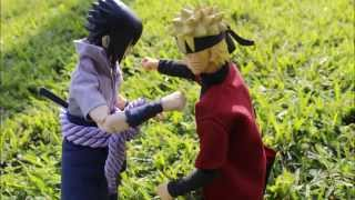 getlinkyoutube.com-Naruto Shippuden: Naruto vs Sasuke Stop Motion Animation