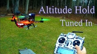 Mini Quad & Naze32 -  Barometer ALT Hold Fine Tuned PID Settings