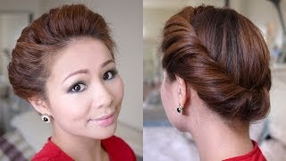 getlinkyoutube.com-2 Minutes Spring Twist Hair Tutorial