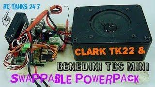 getlinkyoutube.com-Clark TK22 & Benedini Sound Card RC Tank Swappable Powerpack