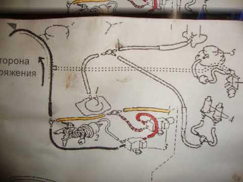 Схема соединений вакумных трубок