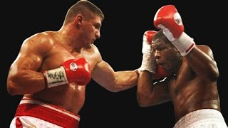 getlinkyoutube.com-Riddick Bowe vs Andrew Golota - Highlights I & II (Infamous Disqualifications & Post Fight Riot!)