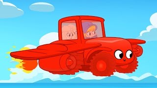 getlinkyoutube.com-My Red Super Tractor! Morphle finds the missing sheep. Animation for kids