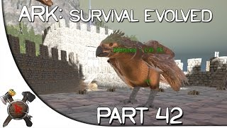 "Ark: Survival Evolved Gameplay - Part 42: ""Helipad Building & Alpha T-Rex!"" (Season 2 w/ Facecam)"