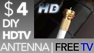 getlinkyoutube.com-✔ $4 DIY Antenna for HDTV ! FREE TV, NO CONTRACTS !