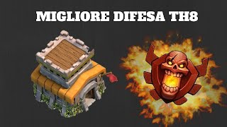 getlinkyoutube.com-Clash of clans: La migliore difesa TH8 per scalare! ITA