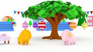 Aprende los colores jugando con Play Doh con Dina y Dino los Dinosaurios | Aprender en español
