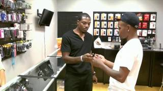 Two Guys Singing 4 Pretty Girl at Boost Mobile Store