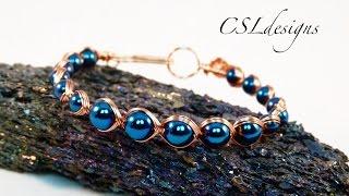 getlinkyoutube.com-Egyptian style wirework bracelet