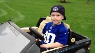 Awesome 5 year Old Rapper! My Truck - Rap Music video about his Power Wheels Ford F-150