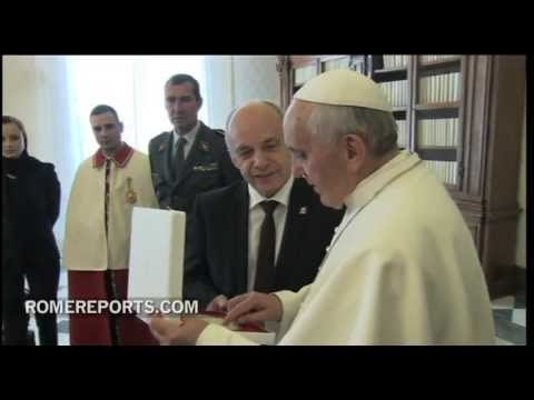 Pope welcomes president of the Swiss Confederation  on key anniversary for both States