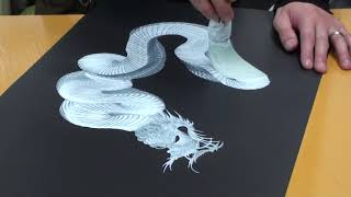 getlinkyoutube.com-Japanese Dragon Painting at Nikko - Japan 2/3