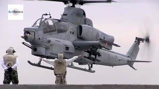 getlinkyoutube.com-AH-1Z Viper, CH-53E Super Stallion Deck Landing Qualifications