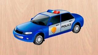 getlinkyoutube.com-Машинки мультики Полицейская машинка. Скорая помощь и другие машинки. Мультик пазл.