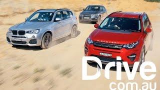 getlinkyoutube.com-Land Rover Discovery Sport v BMW X3 v Audi Q5 Comparison | Drive.com.au