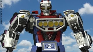getlinkyoutube.com-Turbo Megazord / RV robo - Animation test - CG robot mmpr