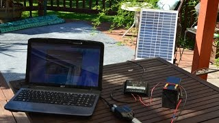 getlinkyoutube.com-How to build a Solar Laptop Charger for Under $100