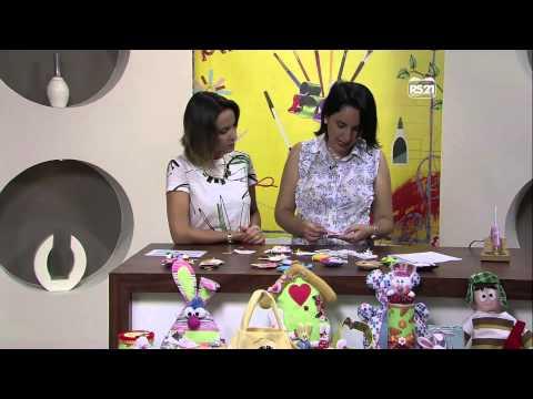 Mulher.com 31/01/2013 Priscila Cunha - Chaveiro ovelhinha  parte 1