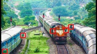getlinkyoutube.com-Indian Railways Garib Rath overtake and crossing