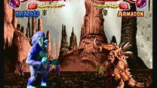 getlinkyoutube.com-Primal Rage (Sega Saturn) Blizzard Run
