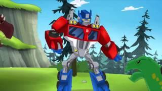getlinkyoutube.com-Transformers Rescue Bots Optimus Prime Becomes Primal