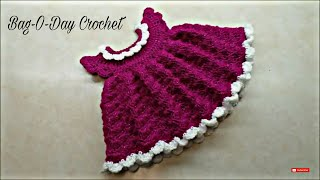 getlinkyoutube.com-CROCHET How To #Crochet Newborn Baby Shell Stitch Dress #TUTORIAL #319