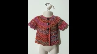 getlinkyoutube.com-CROCHET How to #Crochet Cute Baby Shirt sweater #TUTORIAL #176
