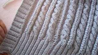 getlinkyoutube.com-женский жилет спицами ( планки, вшиваем замок )