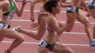 getlinkyoutube.com-Athletics W'100m 福島千里 11秒38 日本陸上2013-607