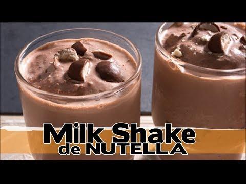 Milk Shake de Creme de Avelã ! ( Nutella !!!! )