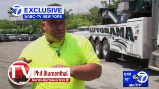Bronx Towing Operation Skillfully Saves Dangling Semi Truck Trailer
