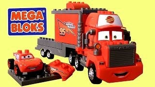 getlinkyoutube.com-MegaBloks Mack & Lightning McQueen 7769 Disney Pixar Cars Lego Blocks 8486 Mack's Team Truck