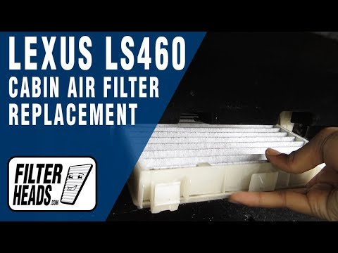 How to Replace Cabin Air Filter 2007 Lexus LS460
