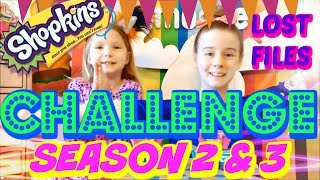 getlinkyoutube.com-SHOPKINS SEASON 2 - 3 CHALLENGE LOST FILES Blind Bags opening SURPRISE Toys hunt for LIMITED EDITION