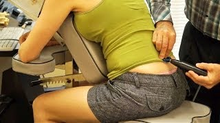 getlinkyoutube.com-Space Age Chiropractic Adjustment Tool for Neck & Back Pain, Austin Chiropractor using Pro-Adjuster