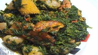 getlinkyoutube.com-Edikang Ikong Soup (edikaikong)   Nigerian Vegetable Soup   Nigerian Food TV