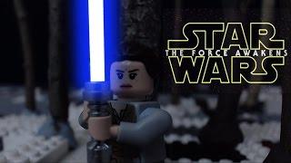 getlinkyoutube.com-Lego Star Wars the Force Awakens:  Rey and Finn vs. Kylo Ren