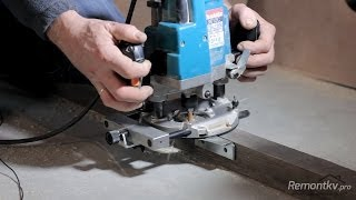 getlinkyoutube.com-Работа с фрезером. Как сделать паз для доборов и петель фрезером
