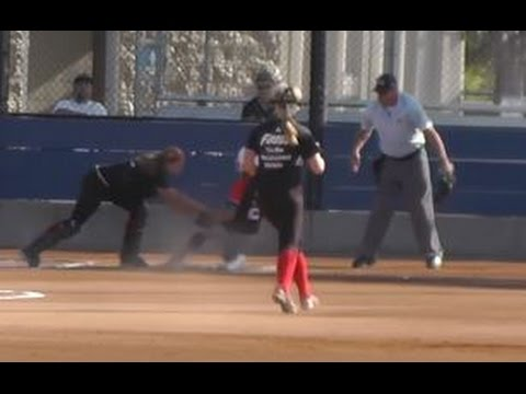 Strike Force Vs. USSSA Pride @ OC Elite Friendly. Dana Point Ca. Burrow #35. Shortstop, Center Field