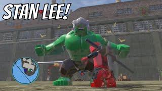 getlinkyoutube.com-LEGO Marvel Super Heroes - Stan Lee Gameplay and Unlock Location
