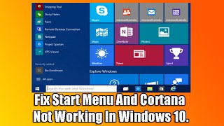 getlinkyoutube.com-Fix Start Menu And Cortana Not Working In Windows 10
