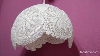 getlinkyoutube.com-Cómo hacer una lámpara con tapetes de ganchillo | facilisimo.com