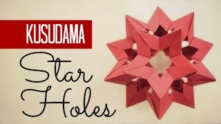 How to make a Kusudama Star Holes (Francesco Mancini)
