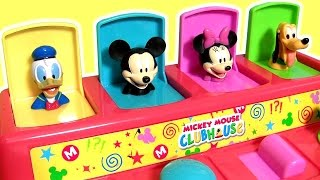 getlinkyoutube.com-Baby Mickey Mouse Clubhouse Pop-Up Toys Surprise Donald Duck, Winnie the Pooh, Minnie, Pluto, Dory