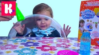 getlinkyoutube.com-Огромные мыльные пузыри и дуем нелопающиеся мыльные пузыри Magic bubbles unboxing set