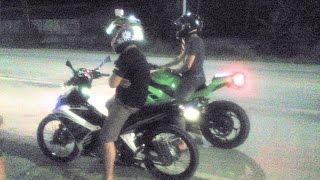 getlinkyoutube.com-NINJA 250cc vs 135 LC Yamaha Sniper 178cc Drag race