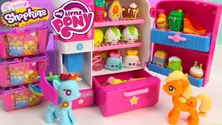 getlinkyoutube.com-MLP Shopkins Season 2 So Cool Fridge Refrigerator My Little Pony POP Rainbow Dash Toy Blind Bags
