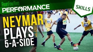Neymar plays 5-a-side | Tricks and skills
