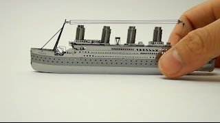 getlinkyoutube.com-METAL TITANIC MODEL   nano puzzle