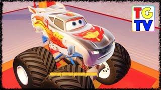 getlinkyoutube.com-Disney Pixar Cars Lightning McQueen Toy Box Speedway   Disney Infinity